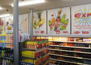 Expa Foods Printed Store Blinds