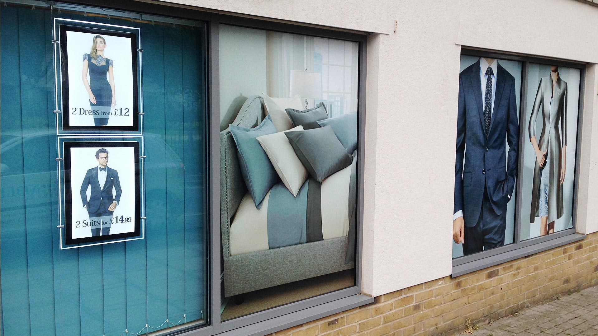 Nobble dry cleaners window graphics