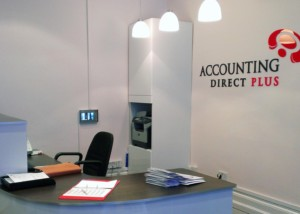 Accounting Direct Plus - Interior Signage London