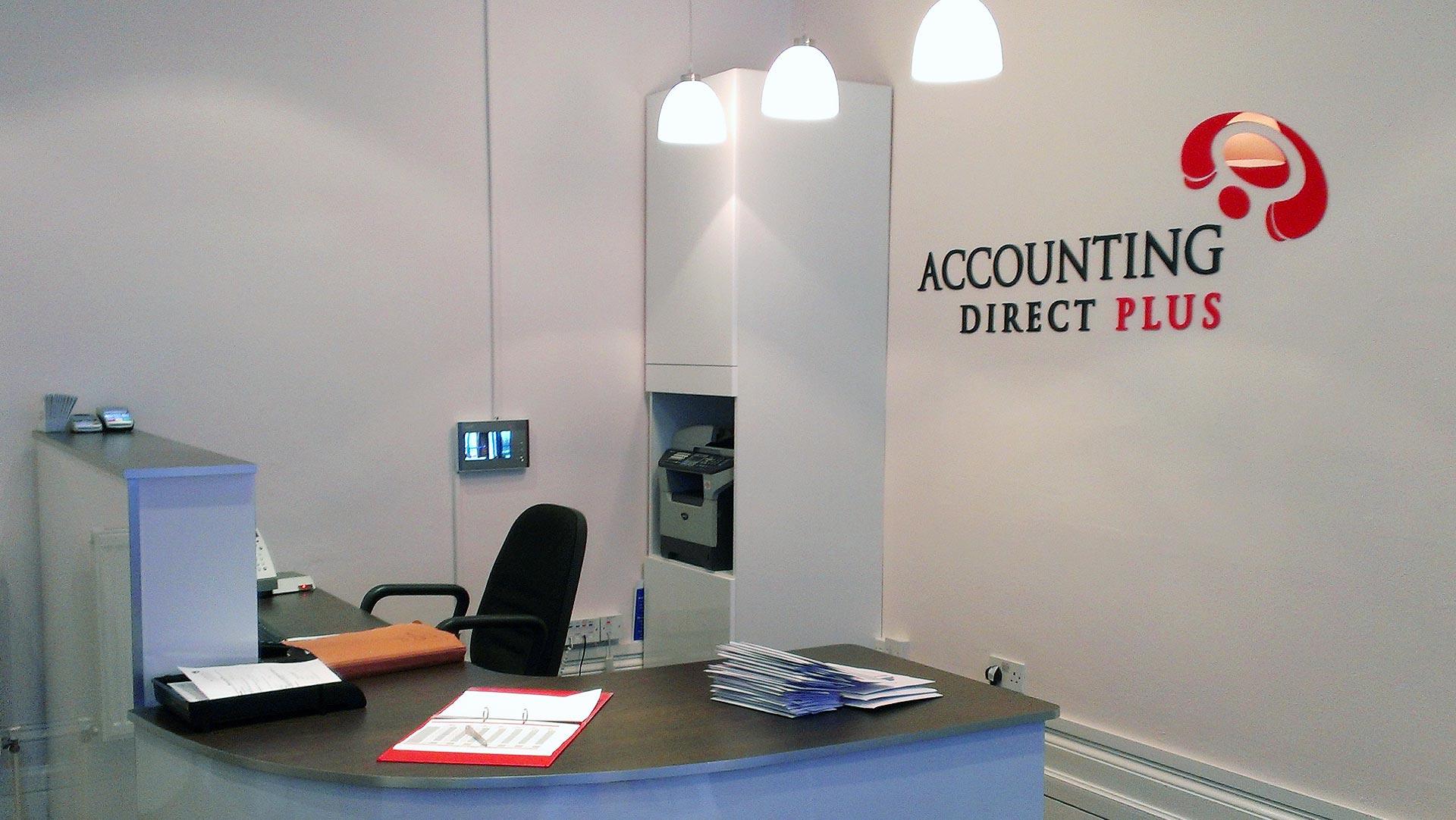 Accounting Direct Plus   Interior Signage London